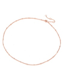 Fashion Rose Gold Stainless Steel Necklace