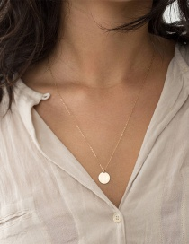 Fashion Gold Round Stainless Steel Necklace