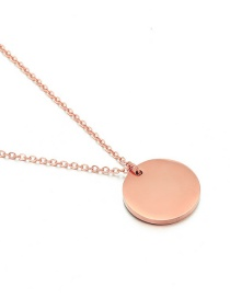 Fashion Rose Gold Round Stainless Steel Necklace
