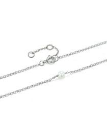 Fashion Steel Color Pearl Stainless Steel Gold-plated Necklace