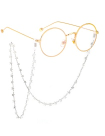 Steel Color Steel Color Stainless Steel Star Glasses Chain