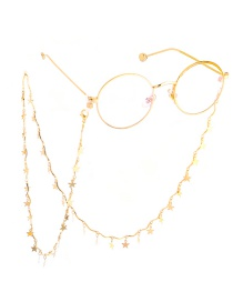 Gold Copper Star Glasses Chain