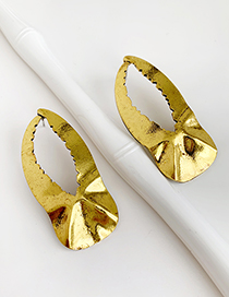Gold Alloy Geometry Earrings
