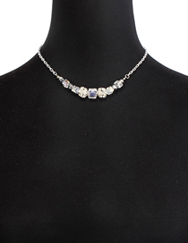 Fashion Gold Alloy Crystal Necklace