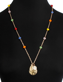 Fashion Color Crystal Shell Necklace