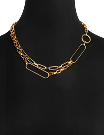 Fashion Gold Asymmetrical Necklace