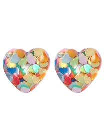 Fashion Color Resin Love Earrings