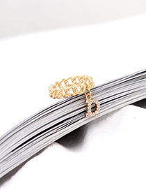 Fashion Gold Crown Chain Ring