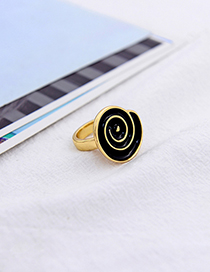 Fashion Black Geometric Ring
