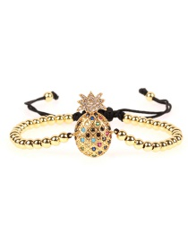 Fashion Gold Fruit Copper Beads Micro-inlaid Bracelet