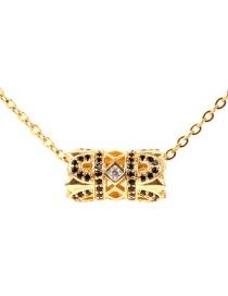Fashion Gold Single Ball And Diamond Micro-inlay Necklace