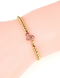 Fashion Flamingo Gold Zircon Flamingo Steel Ball Bracelet