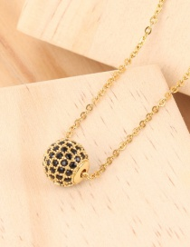 Fashion Golden 5 Rows Single Ball And Diamond Necklace