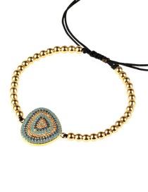 Fashion Gold Diamond Triangle Beaded Beaded Telescopic Bracelet