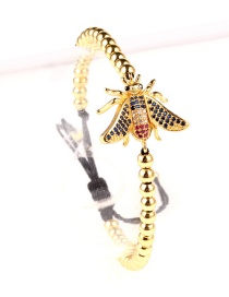 Fashion Butterfly Gold Steel Ball Plated Gold Animal Studded Bracelet