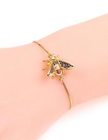 Fashion Big Bee Golden Full Diamond Bee Zircon Bracelet