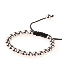 Fashion Silver 8mm Solid Color Retaining Steel Bracelet