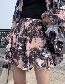 Fashion Color Ink Printed Shorts
