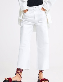 Fashion White Washed Jeans