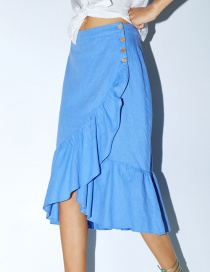 Fashion Blue Ruffle Skirt
