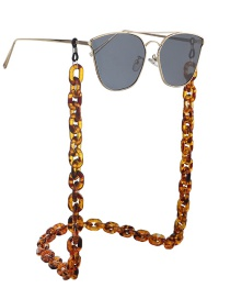 Fashion Leopard Resin Acrylic Anti-skid Glasses Chain
