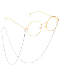 Fashion Silver Stainless Steel Japanese Word Chain Hanging Neck Color Anti-skid Glasses Chain