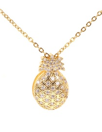 Fashion Gold Micro-inlaid Zircon Fruit 14k Necklace