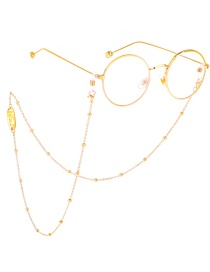 Fashion Gold Believe Color-protecting Beaded Metal Chain