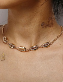 Fashion Gold Alloy Shell Necklace