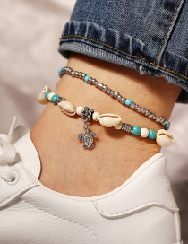 Fashion Silver Shell Turtle Anklet Two-piece