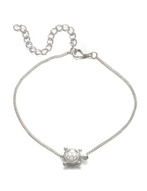 Fashion Silver Turtle Anklet