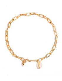 Fashion Gold Natural Shell Chain Anklet