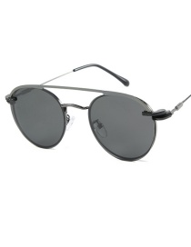 Fashion Gun Frame Black Gray Piece Outer Ring Polarized Inner Ring Flat Mirror