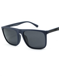 Fashion Blue Frame Full Gray Outside Riding Sunglasses