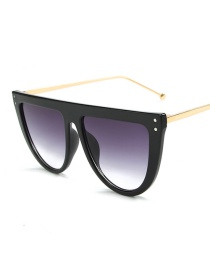 Fashion Black Frame Double Gray Sunglasses