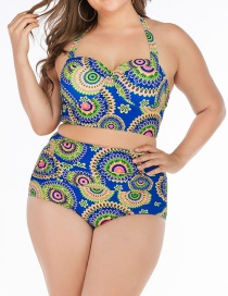 Fashion Blue Big Cup Swimsuit