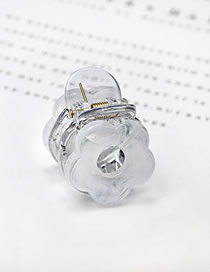 Fashion White Acrylic Small Grip