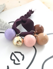 Fashion Dark Purple Rope Ball Hair Ring