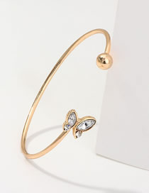 Fashion Gold Butterfly And Diamond Bracelet