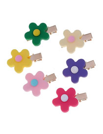 Fashion Small Hair Clip Flower Hair Clip Earrings Three-piece