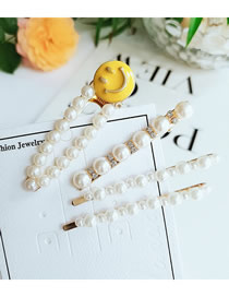 Fashion White Smiley Hairpin