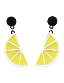 Fashion Orange Yellow Fruit Earrings
