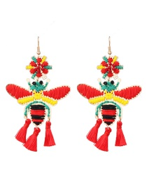 Fashion Red Honey Tassel Earrings
