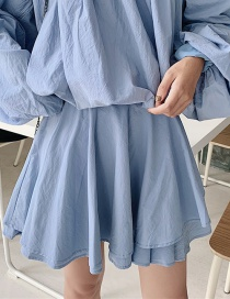 Fashion Blue Suit Half Skirt
