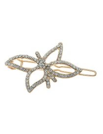 Fashion Gold Openwork Lotus-studded Hair Clip