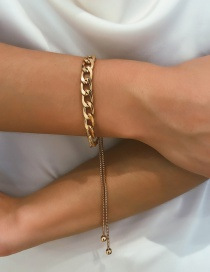 Fashion Gold Thick Chain Adjustable Bracelet