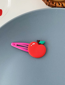 Fashion Small Tomato Red Cartoon Fruit Hair Clip