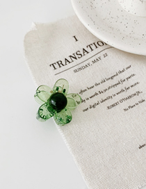Fashion Green Transparent Flower Grab