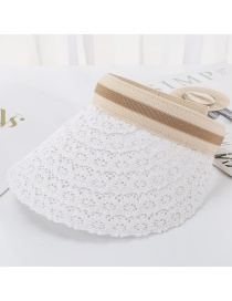 Fashion White Hoop Lace Top Hat