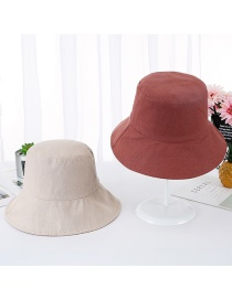 Fashion Brick Red Double-sided Visor Fisherman Hat